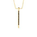 Black Diamond Necklace With Spike in Yellow Gold By Irthly
