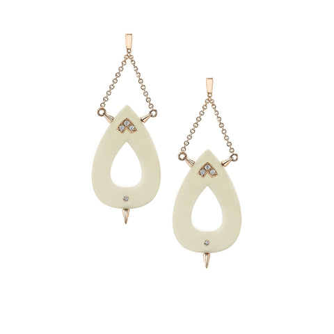 Small Nurture Diamond Earrings in 18k Gold Jewelry - Irthly - 1