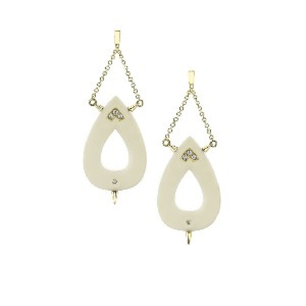 Small Nurture Diamond Earrings in 18k Gold Jewelry - Irthly - 2