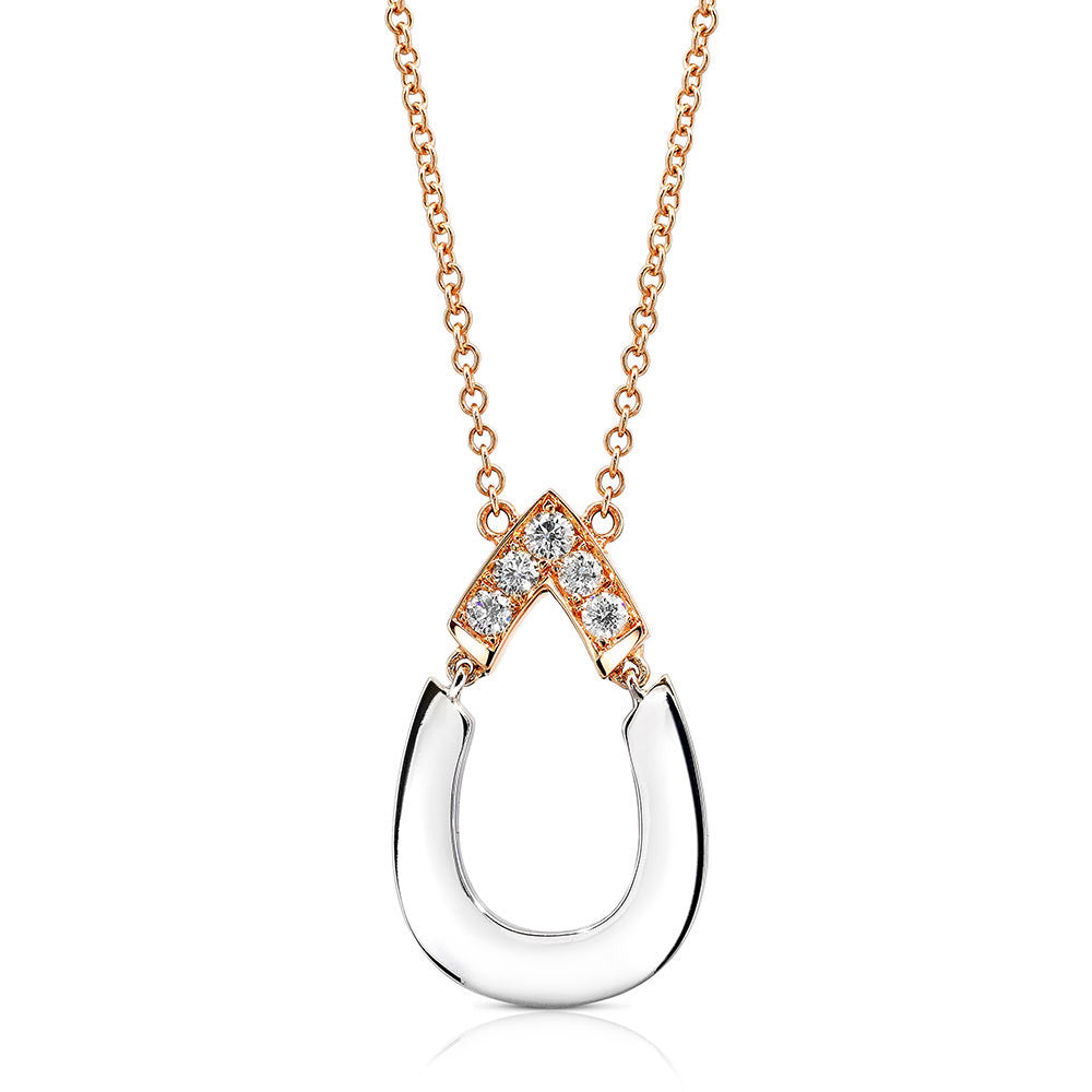 Nurture Sans Diamond Pendant in 18k Gold Jewelry - Irthly