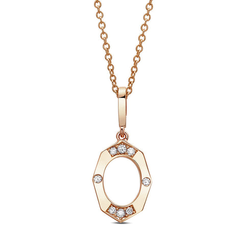 Dainty Diamond Pendant in Rose Gold By Irthly