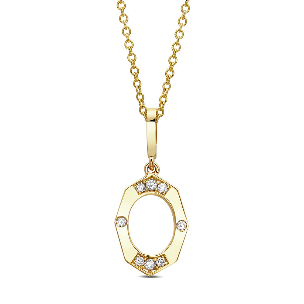 Dainty Diamond Pendant in Yellow Gold By Irthly