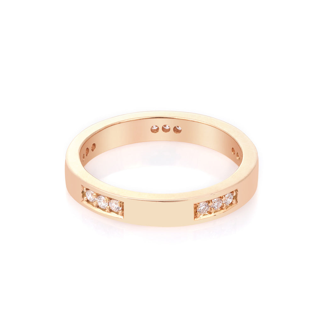 Diamond Engagement Band in Rose Gold By Irthly