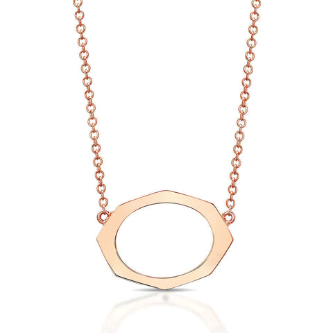 Small Horizontal Diamond Pendant in Gold Jewelry-Affinity Sans Series