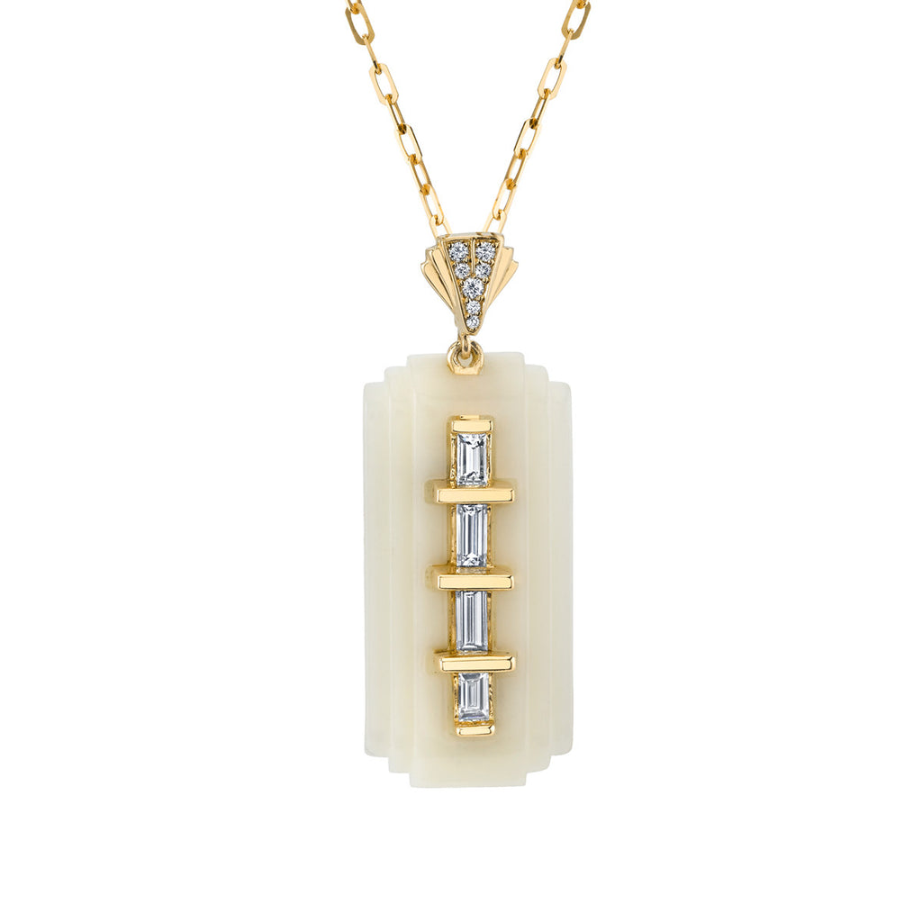 Art D'Eco Streamline Miami Diamond Pendant in 18k Gold Jewelry - Irthly - 1