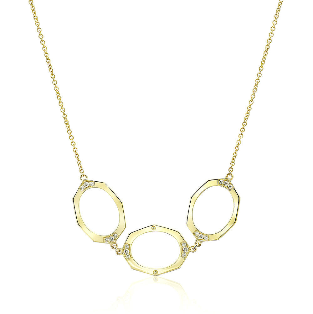 Affinity Sans Diamond Necklace in 18k Gold Jewelry - Irthly - 1