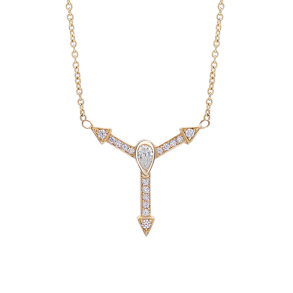 TryLove Sans Diamond Necklace in Gold-ISTLN01