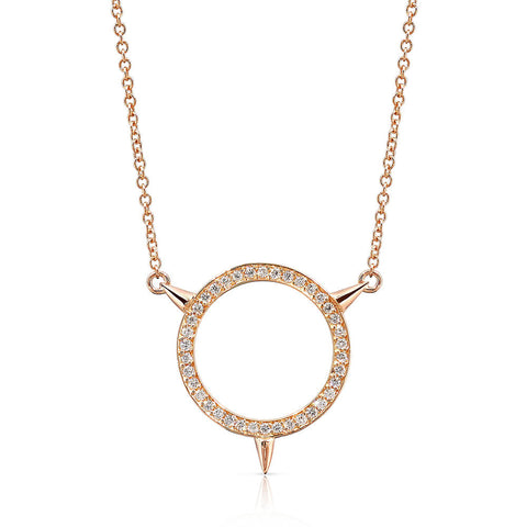 Small Cycles Sans Diamond Pendant in 18k Gold Jewelry - Irthly