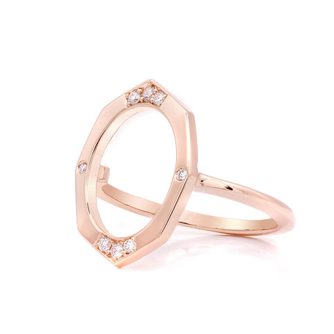 Small Diamond Ring in Gold Jewelry-Affinity Sans Series