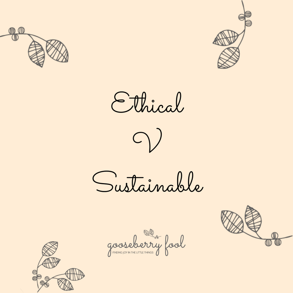 Ethical v sustainable shopping