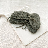 Organic cotton Tall cotton booties