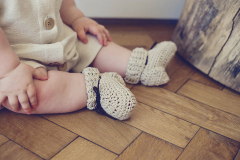 Handmade cotton booties