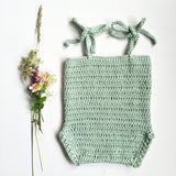 Handmade sweet pea sunsuit