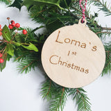 Personalised wooden Christmas decorations