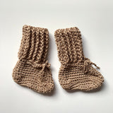 Tall cotton booties