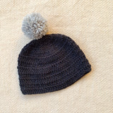 Handmade organic cotton bobble hat