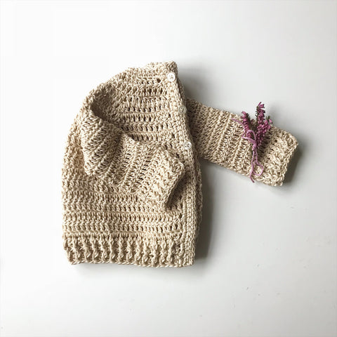 Handmade clover cotton cardigan
