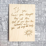 Personalised wooden card with your child's drawing or handwriting