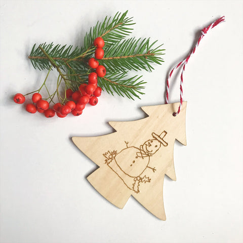 Personalised Christmas decoration with your child's drawing or handwriting