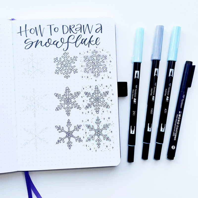 Winter Snowflake Illustration Tutorial
