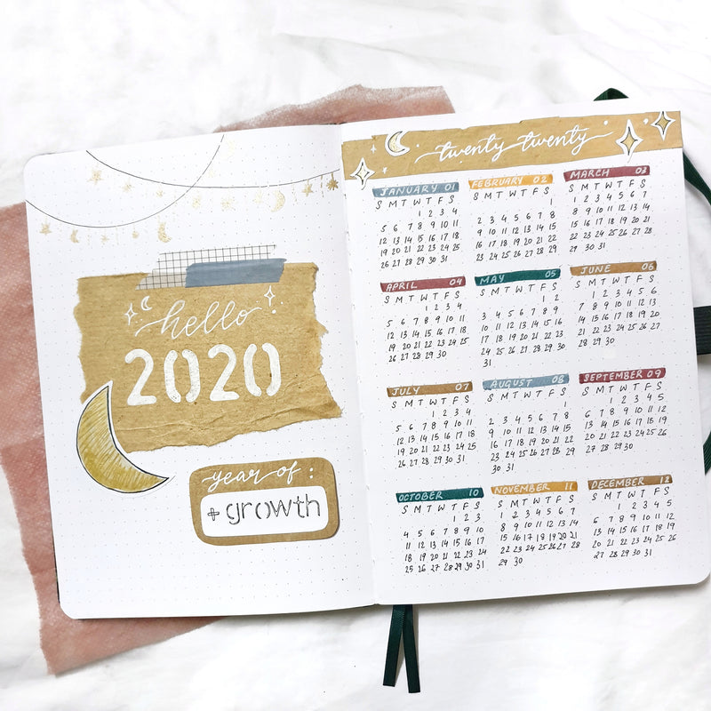 How To: Yearly Calendar In Your Bullet Journal + Printable!