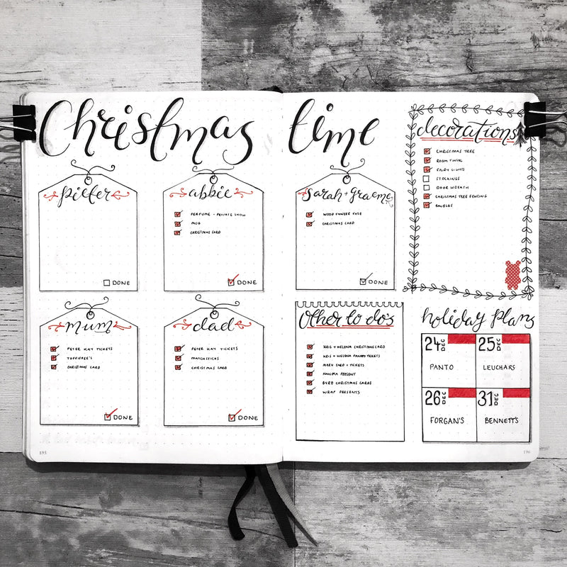 Keep On Budget When Buying Gifts This Holiday With The Help Of Your Bullet Journal