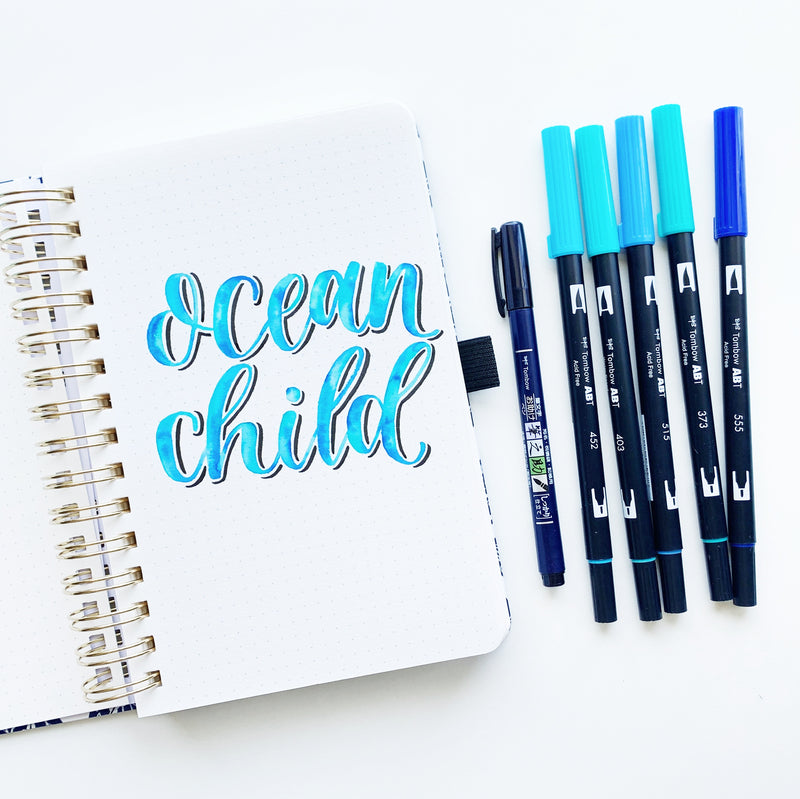 Watercolor Lettering Tutorial in the NEW Archer and Olive Watercolor Notebook
