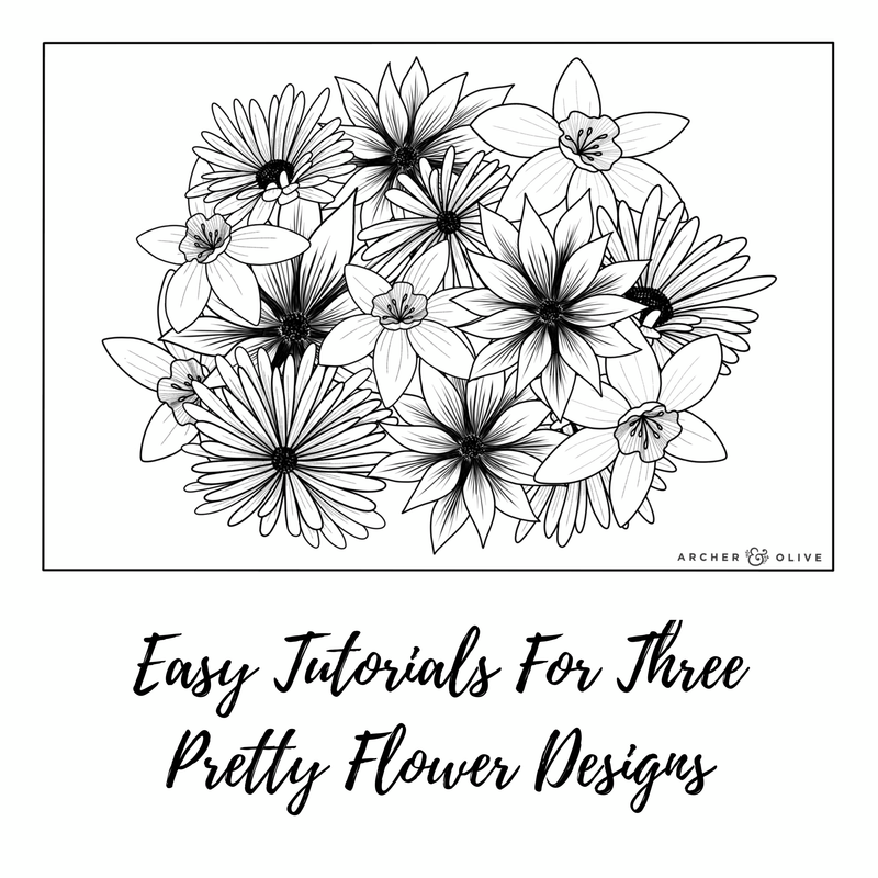 Three Simple Flower Designs To Make A Gorgeous Floral Illustration