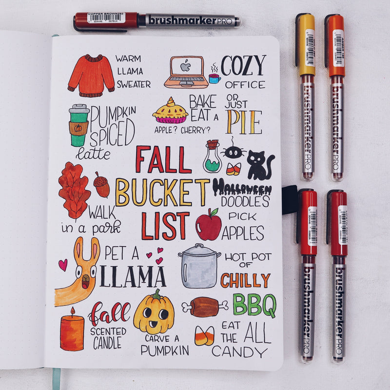 How to Create A Fall Bucket List In Your Bullet Journal
