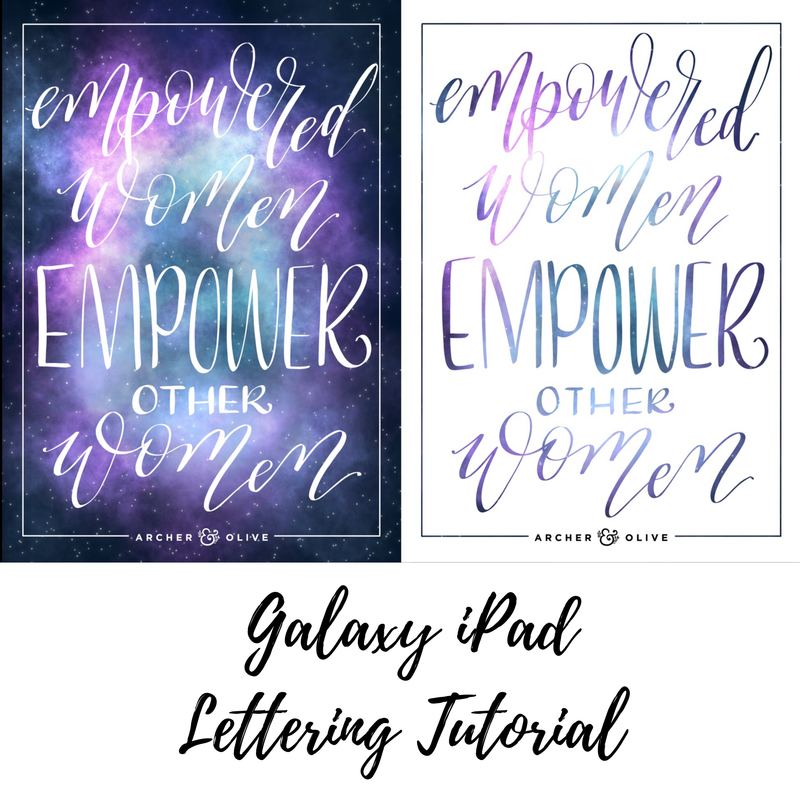 How To Create A Galaxy Quote On Your iPad