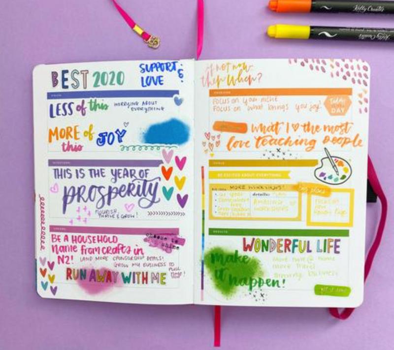 Setting your 2020 Intentions in your A&O and Amy Tangerine Planner