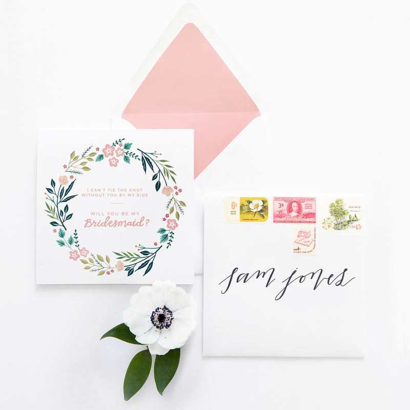 Free printable - Will you be my bridesmaid card