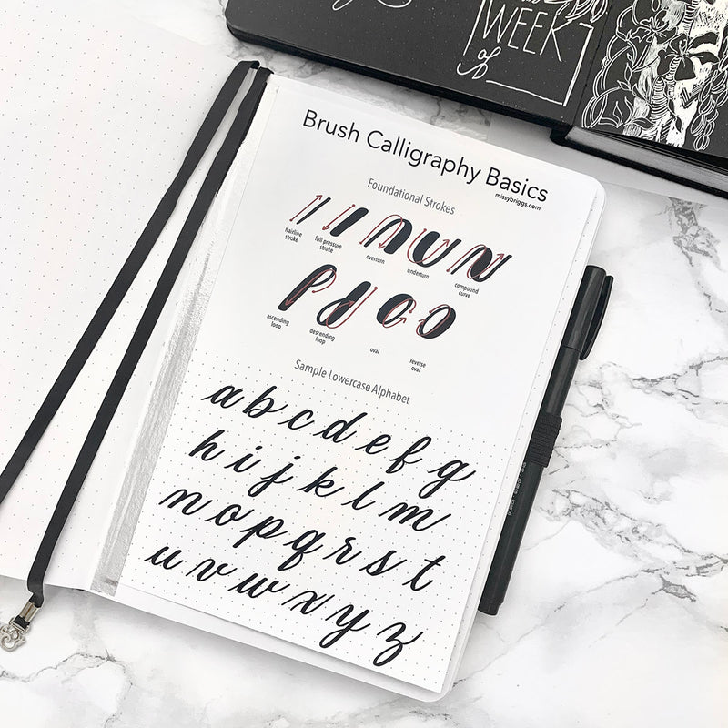 Five Tips for Pro Brush Lettering in Your Journal
