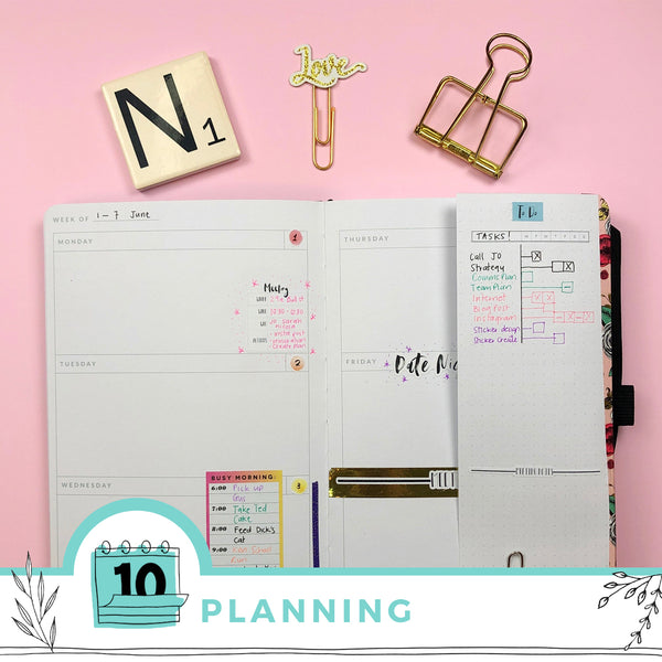 6 Creative ways to use your Undated Planner for Project Management