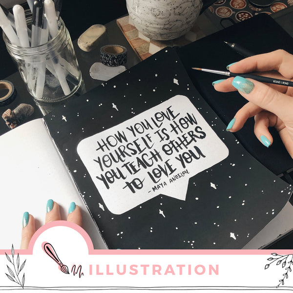 Adding Positive Quotes + Inspiration To Your Journal