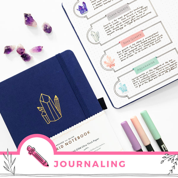 Guided Journaling With Crystals And Free Printable Meditation Cards
