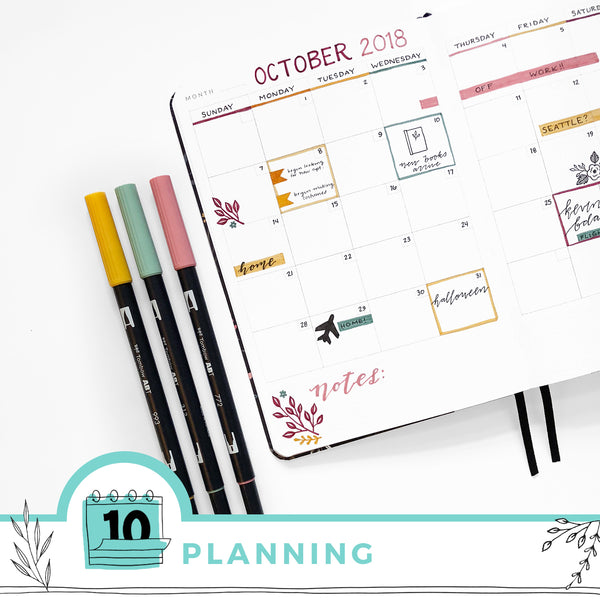 Adding More Creativity Into Your Planner