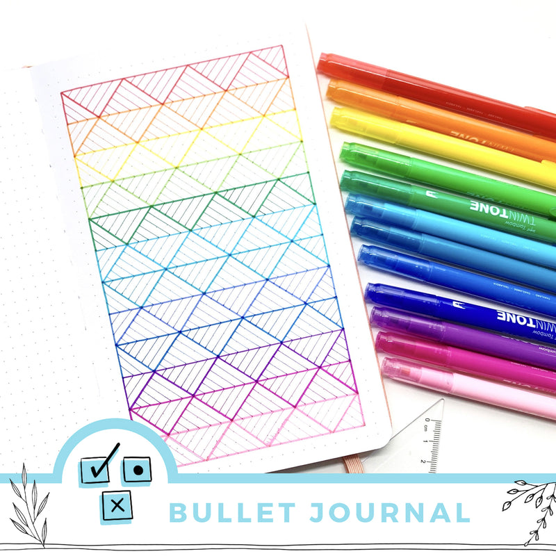 Rainbow Triangle Pattern Tutorial For Your Bullet Journal