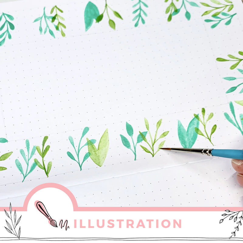 Mixed Media Spring Leaf Border Tutorial