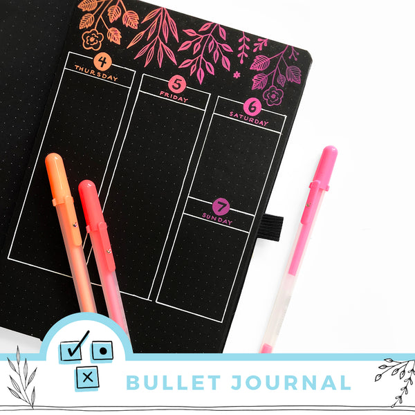 Introducing the BLACKOUT! Book - Black Page Dot Grid Journal