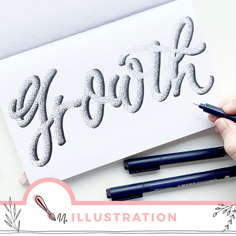 Stipple Hand Lettering In Your Bullet Journal