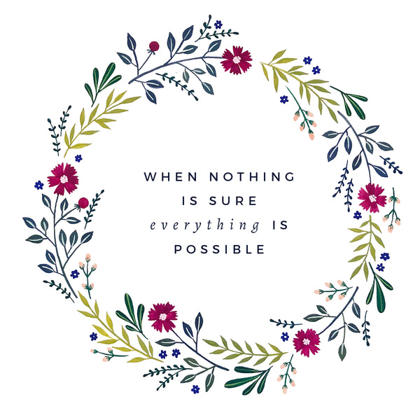 Freebie Friday - Everything is Possible Print