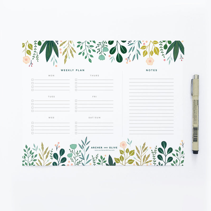 A Week of Planning - Printable