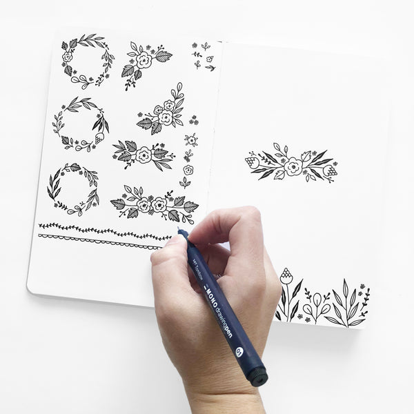 Freebie Friday - Printable Dot Grid Journal Doodles