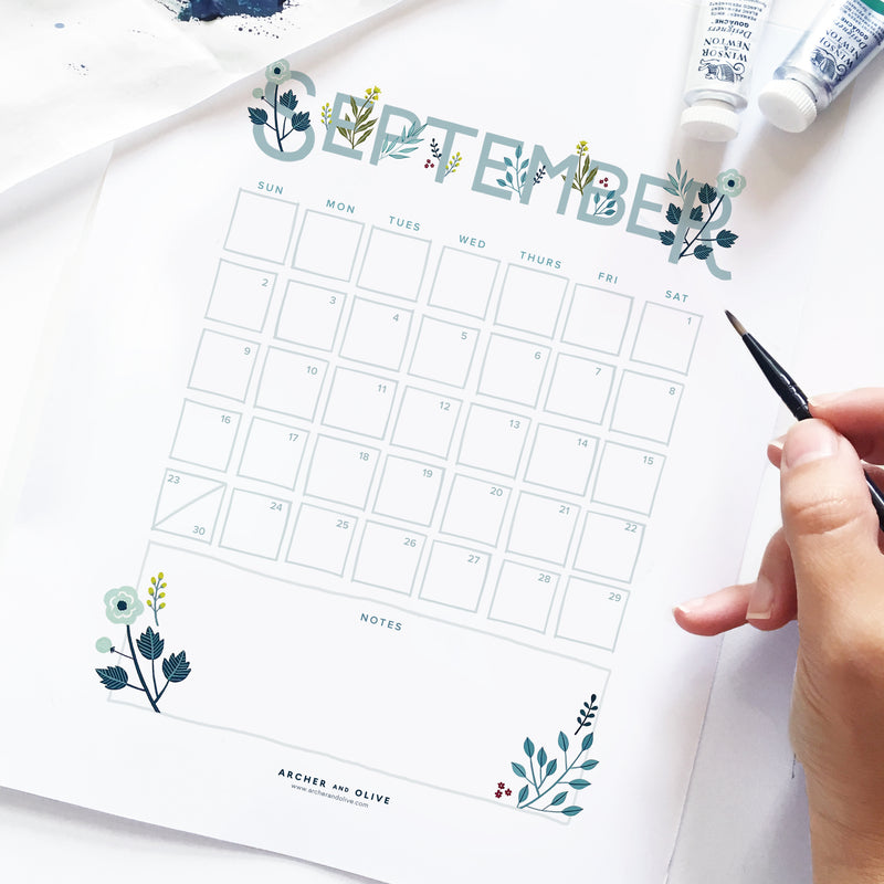 Freebie Friday - September Calendar