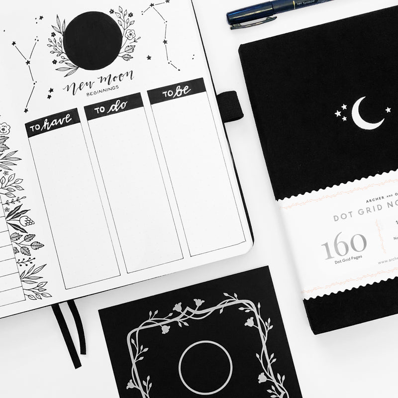 Bullet Journal Layouts You Need For Each Phase of The Moon