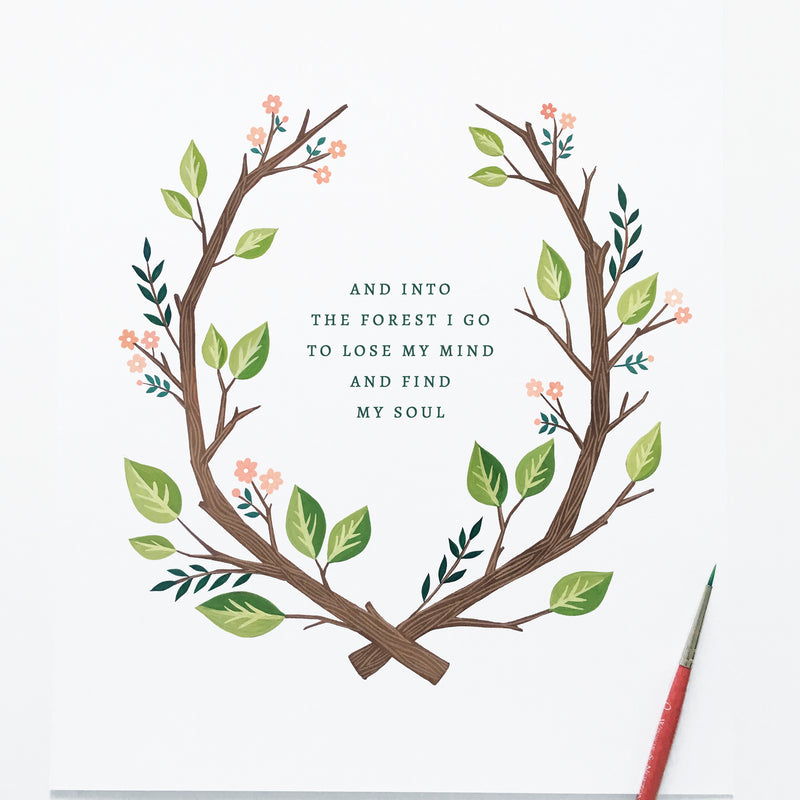 Freebie Friday - Into the Forest Printable