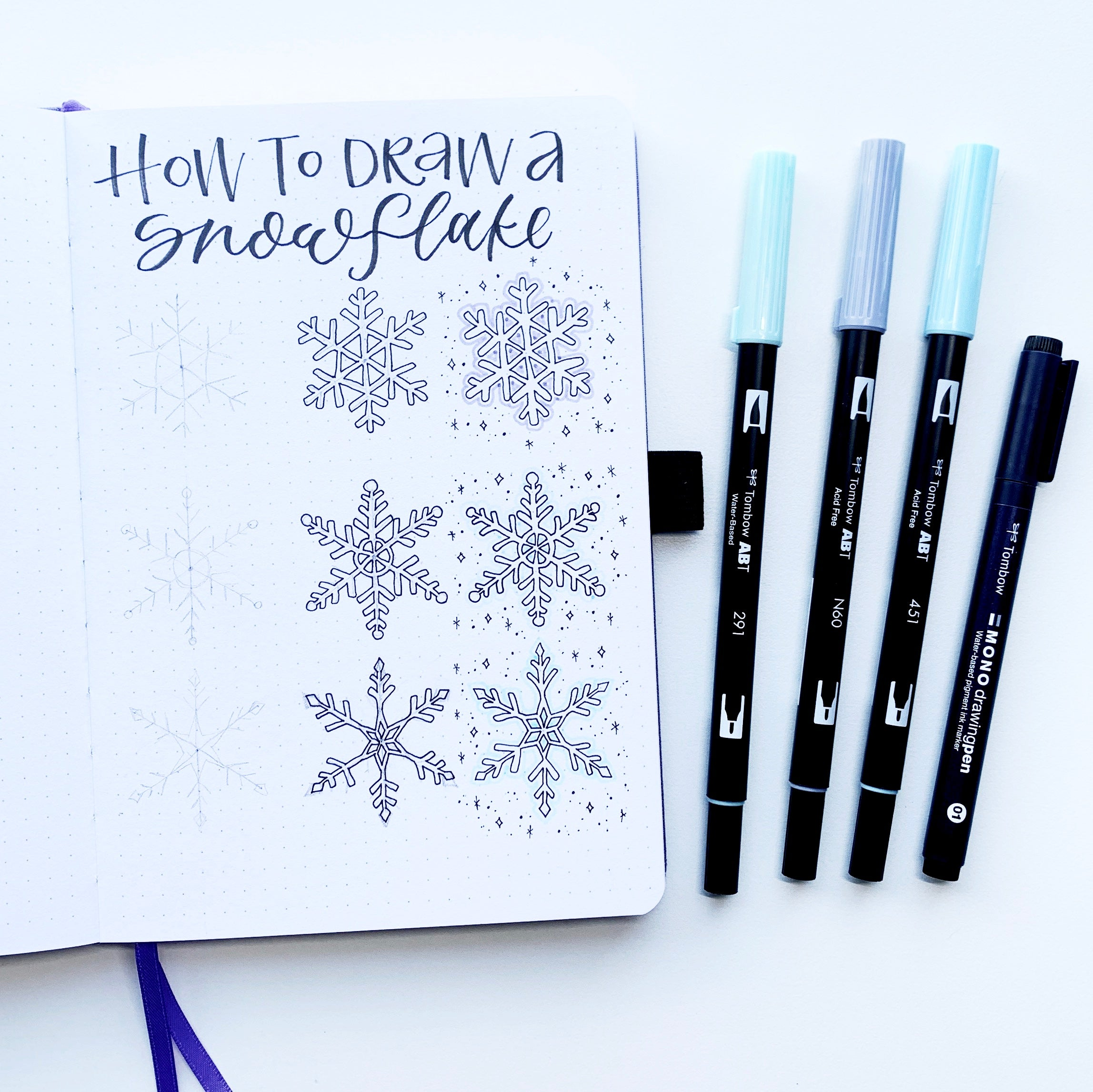 Learn how to draw the perfect winter snowflake with Adrienne from @studio80design!