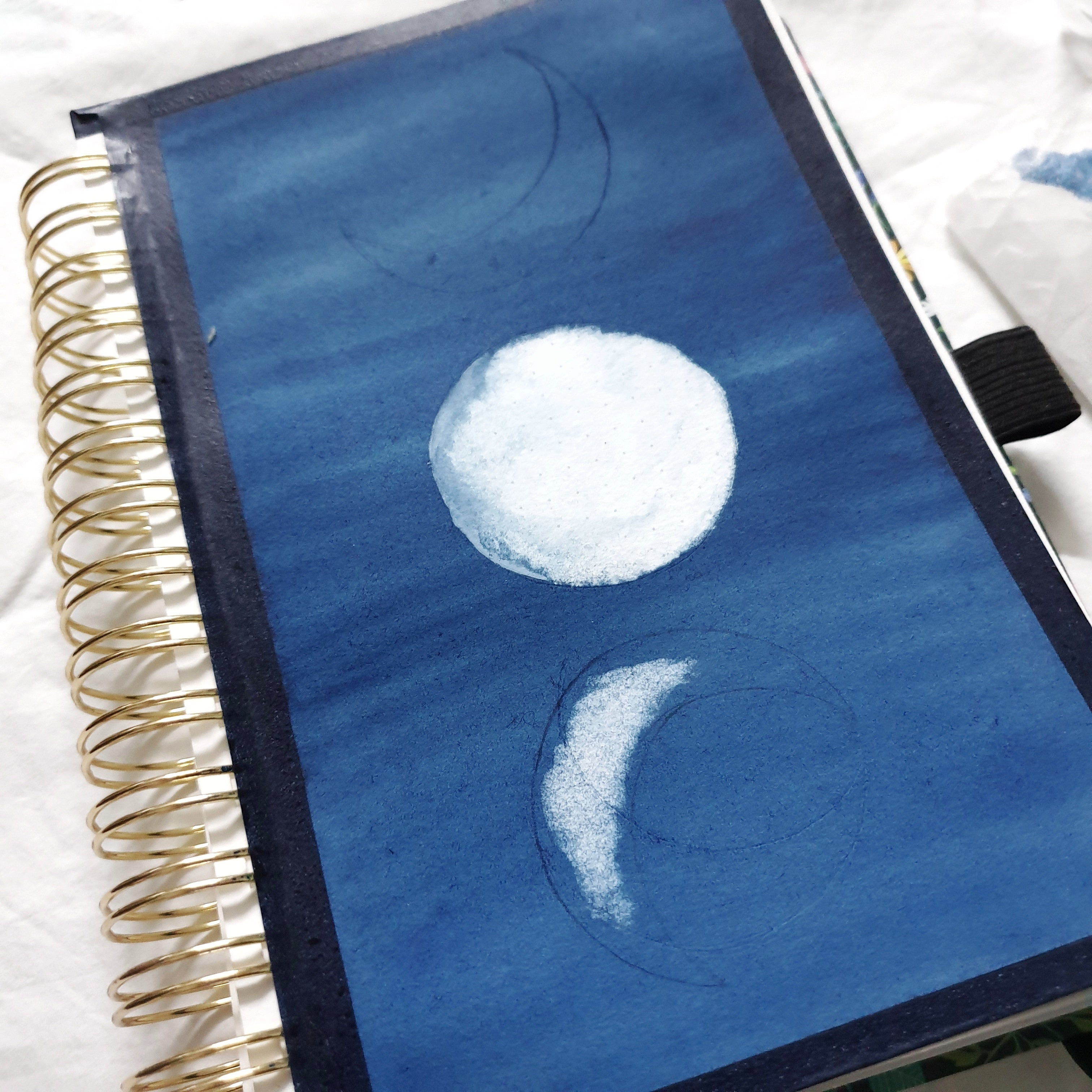 Watercolour Tutorial: Moon Phases