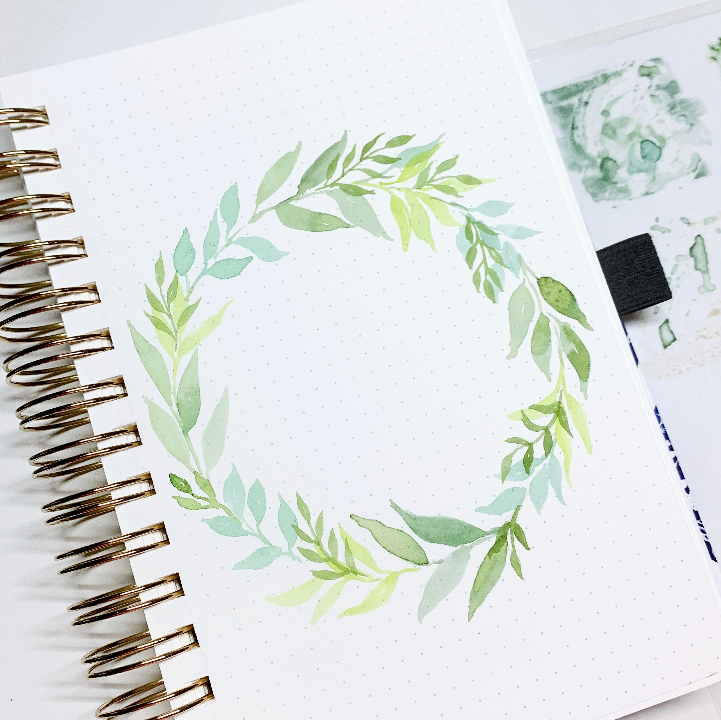 Holiday Watercolor Wreath Tutorial Archer And Olive